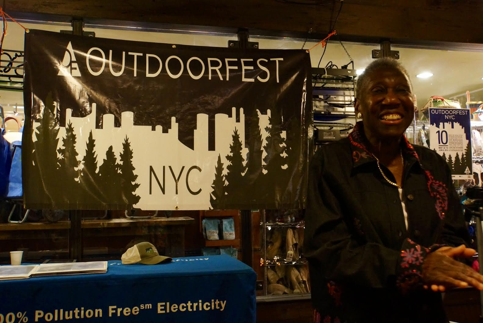 Barbara Hillary at OutdoorFest Final Party
